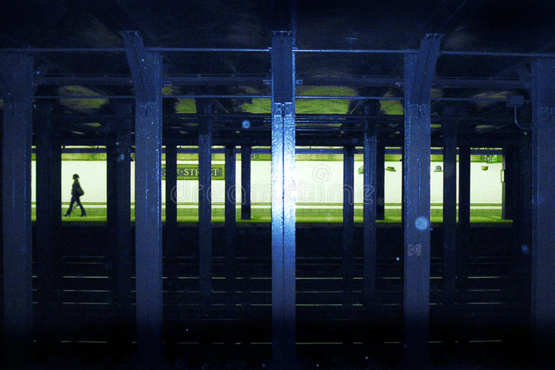 Nyc υπόγεια Στοκ εικόνα με δικαίωμα ελεύθερης χρήσης