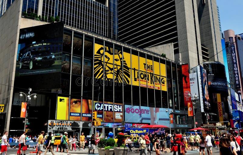 NYC:  Король Афиша льва в Таймс площадь стоковое изображение rf