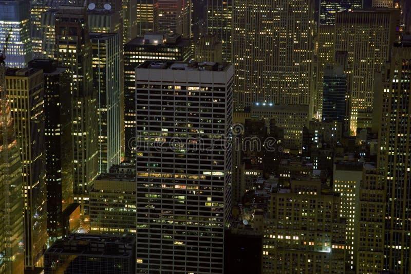 nyc ночи зданий стоковое фото rf