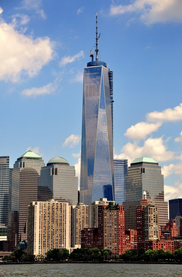 NYC:  Одна башня всемирного торгового центра стоковая фотография rf