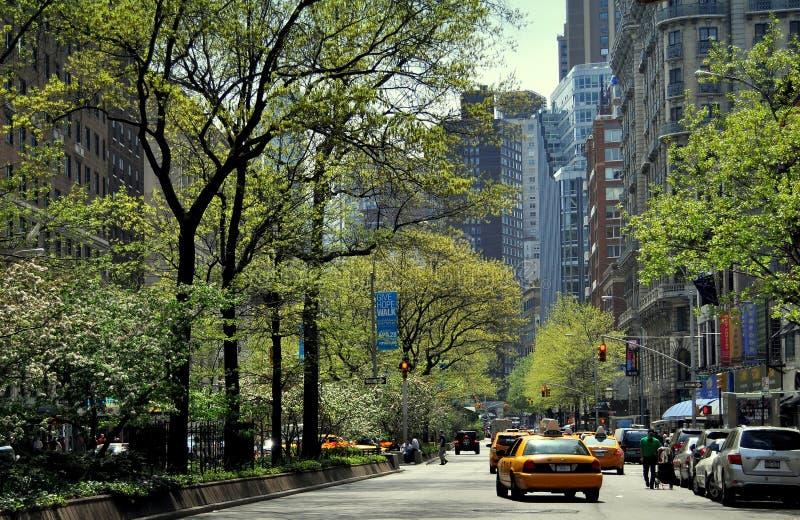 NYC :沿百老汇的看法 库存照片