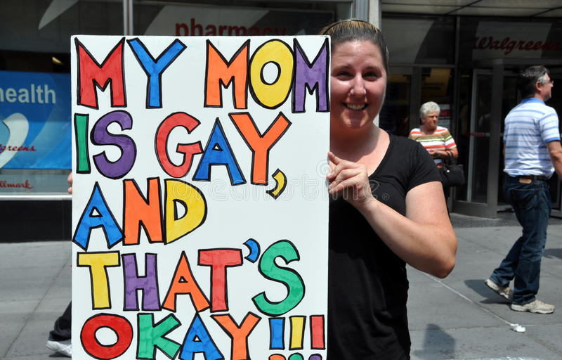 NYC: 2010 Homosexuell-Stolz-Parade lizenzfreies stockfoto