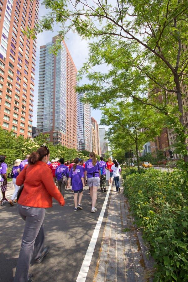 NYC 2011 Liver Life Walk stock image