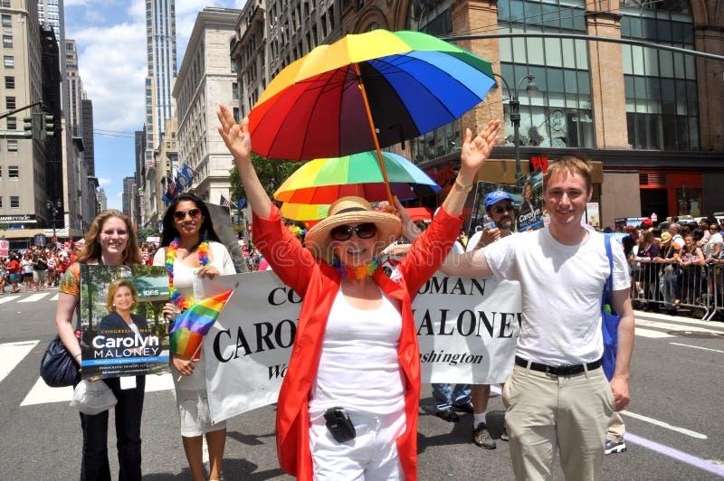 Download NYC: 2012 Gay Pride Parade editorial stock image. Image of congresswoman - 25438099