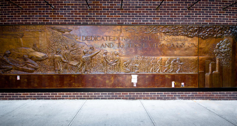Download NYC 9/11 Firefighters Memorial Editorial Stock Photo - Image of manhattan, ladder: 23875843