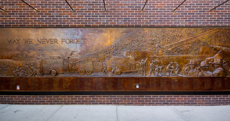 Download NYC 9/11 Firefighters Memorial Editorial Photography - Image of street, honor: 23875852