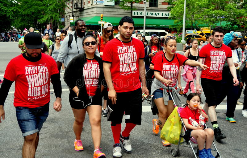 NYC: AIDS-Gang 2014 Leurders stock fotografie