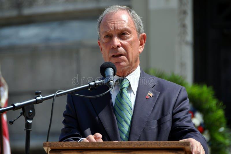NYC: Alcalde Michael Bloomberg fotografía de archivo