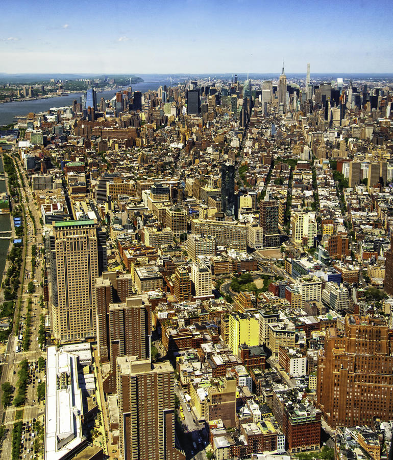 NYC até o olho pode ver! imagem de stock royalty free