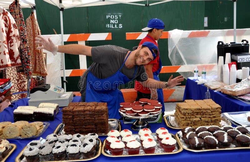 NYC: Baker bij Hoger Festival Broadway stock afbeelding