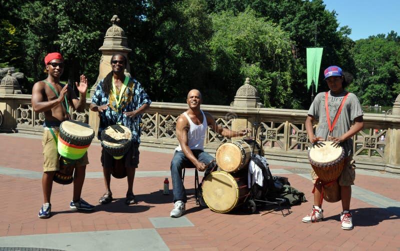 NYC: Batteristi del Central Park fotografia stock