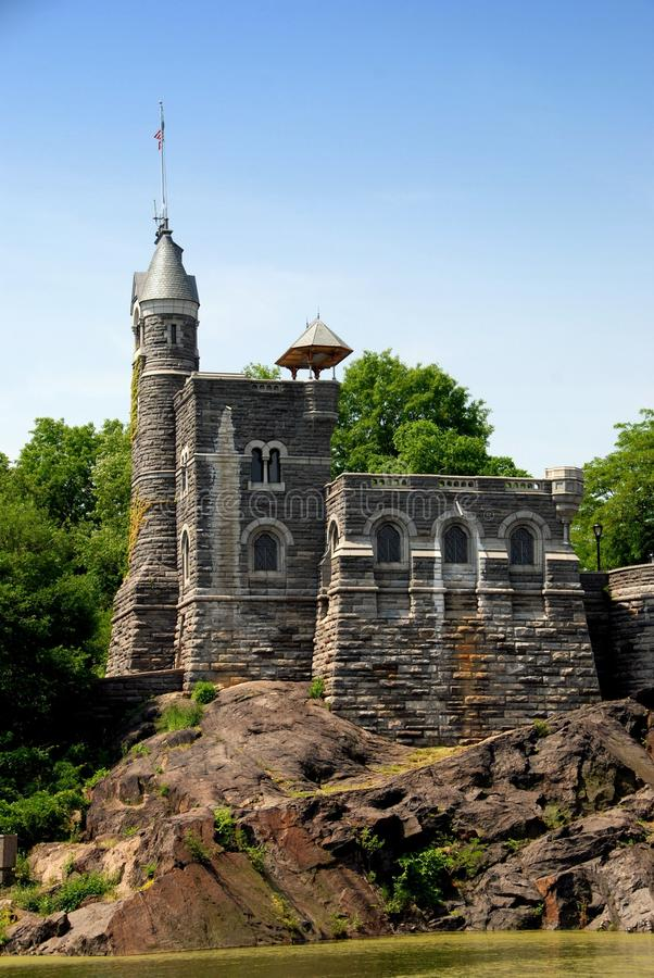 NYC: Belvedere Castle in Central Park royalty free stock photo
