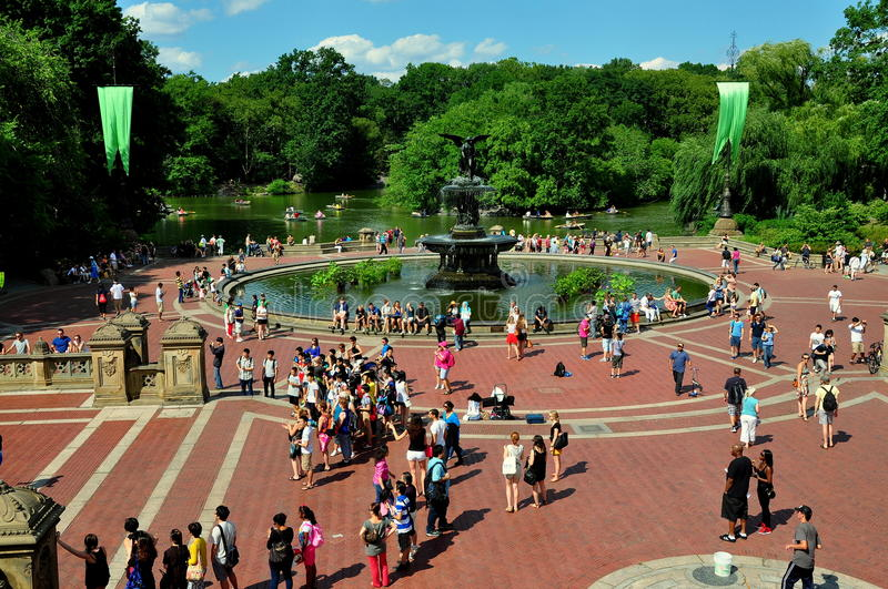 NYC: Bethesda Terrace i Central Park royaltyfria bilder