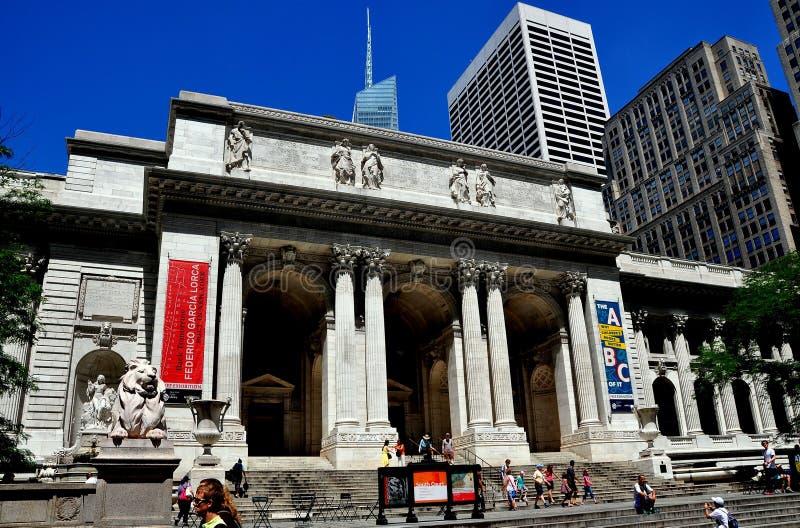 NYC : Bibliothèque publique de New York photographie stock