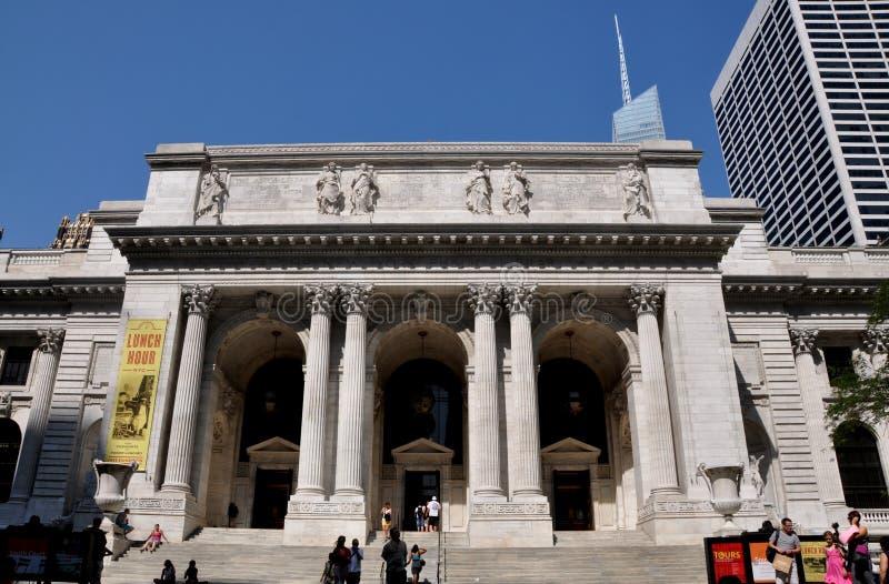 NYC : Bibliothèque publique de NYC photographie stock libre de droits