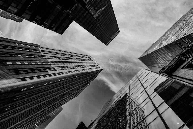 NYC blanco y negro imagen de archivo