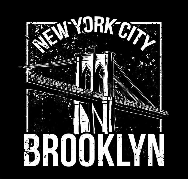 NYC Brooklyn royalty illustrazione gratis