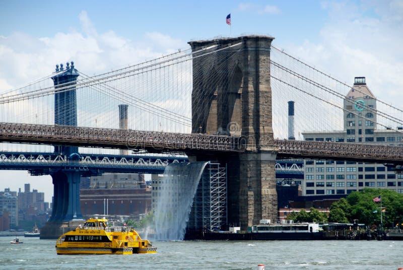 Download NYC: The Brooklyn Bridge editorial stock image. Image of waterfall - 14280609