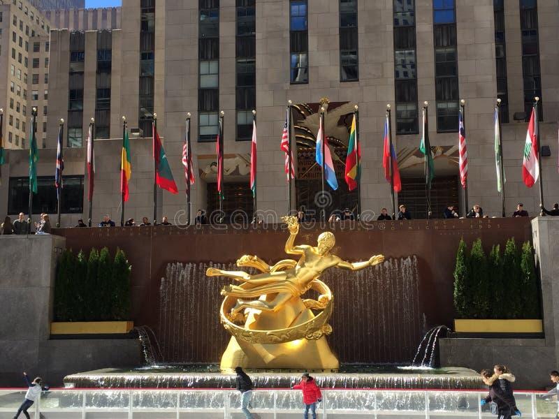 Rockefeller plaza stock photos