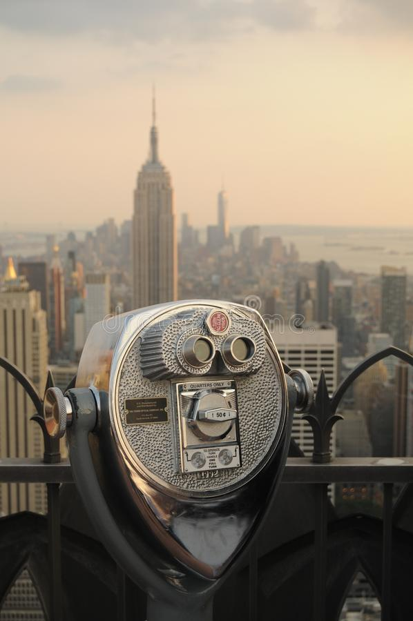 NYC. Buildings from above stock image