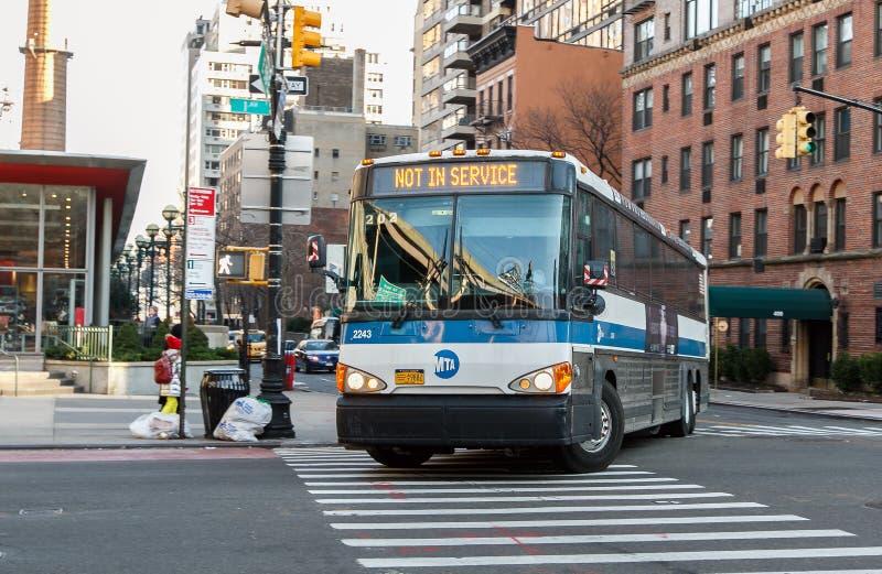 NYC-Bus lizenzfreie stockfotos