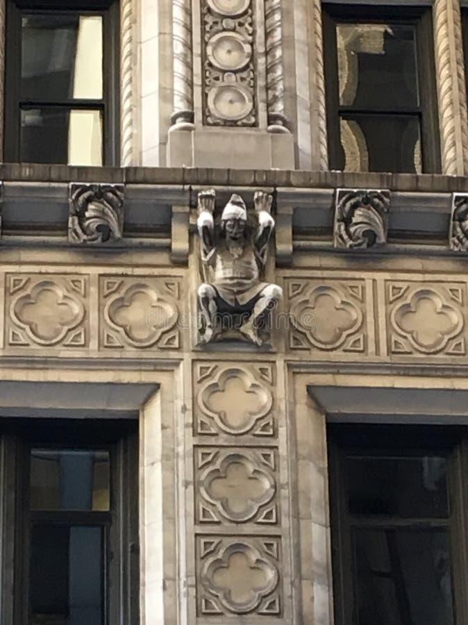 NYC-byggnadsdetalj royaltyfri bild