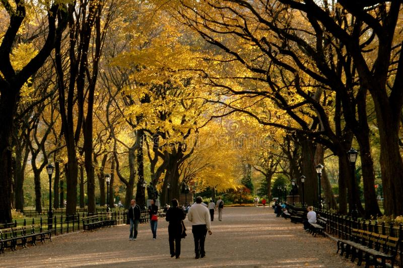 NYC: Central- Parkmall im Herbst stockfoto