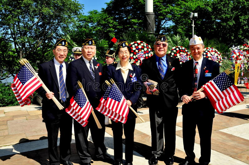 NYC:Chinese-American War Veterans stock photos
