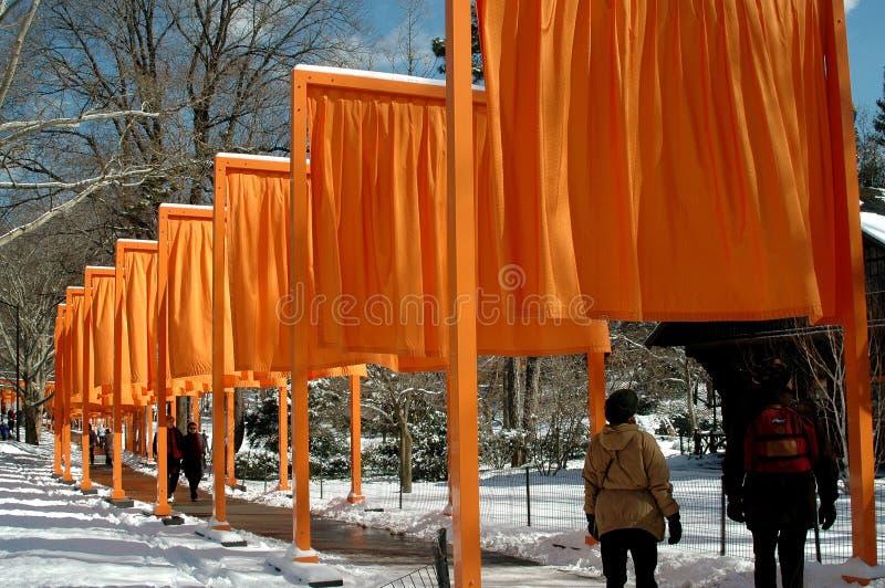 NYC: Christos die Gatter in Central Park lizenzfreies stockbild