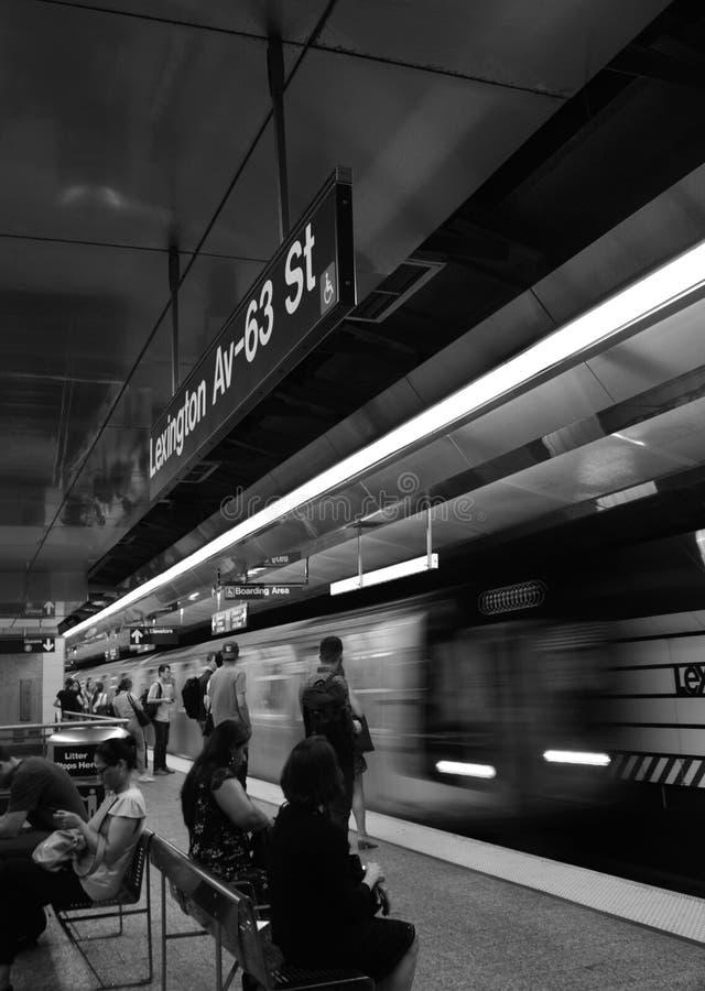 NYC City Commute to Work Crowded Subway Station zdjęcia stock