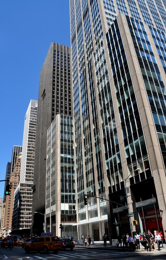 NYC: Collectieve Bureautorens op Zesde Weg royalty-vrije stock afbeelding