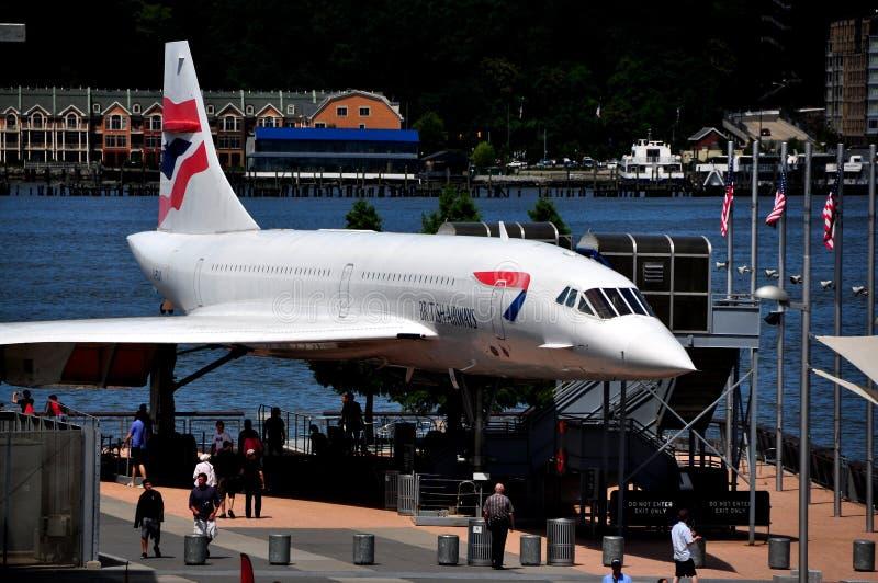 NYC :  Concorde au musée intrépide photos stock