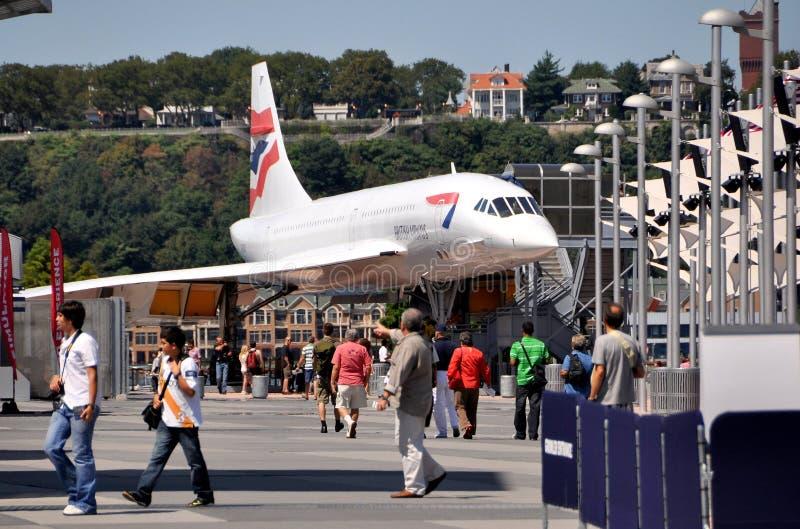 NYC: Concorde på det Intrepid museet royaltyfri foto