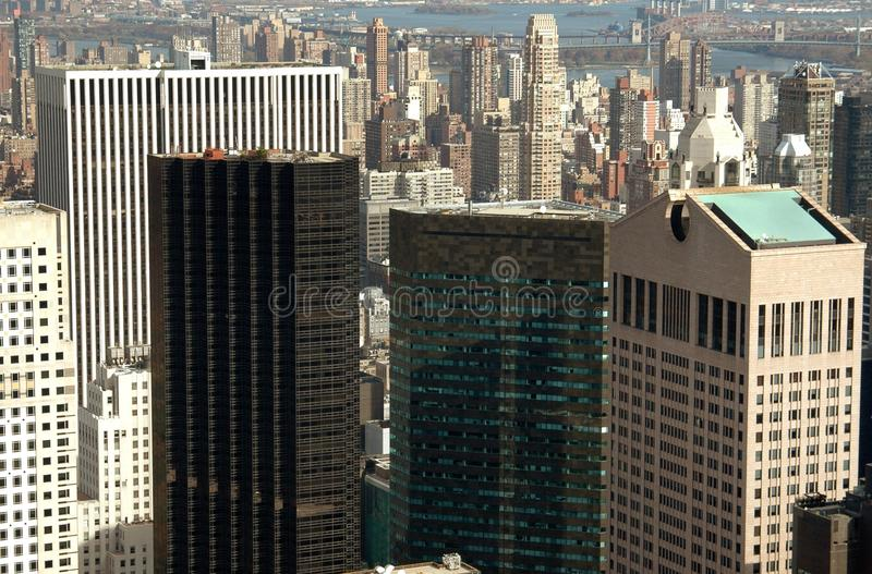 NYC: Corporate Towers in Midtown Manhattan royalty free stock photo