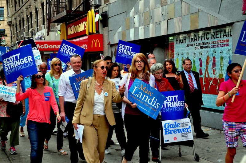 Download NYC: Council Woman Gale Brewer Campaigning Editorial Stock Image - Image of nadler, president: 33465299