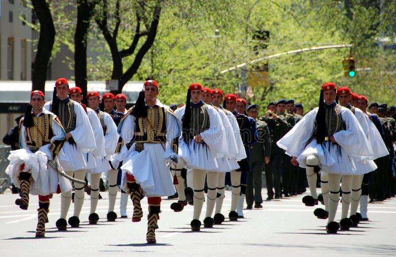 NYC : Défilé grec de Jour de la Déclaration d'Indépendance image stock