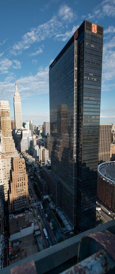 NYC-Dachspitzen-Ansicht vom New- Yorkerhotel, Manhattan stockbilder