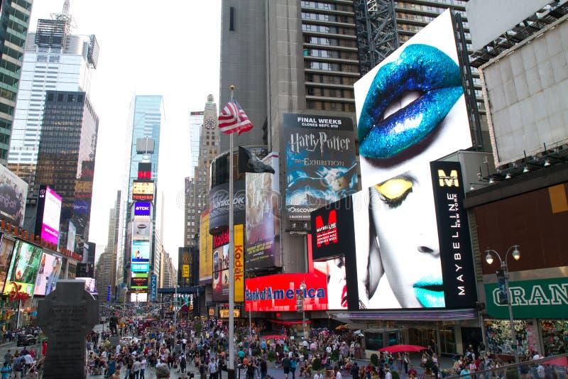 NYC, de Advertenties van het Times Square stock fotografie