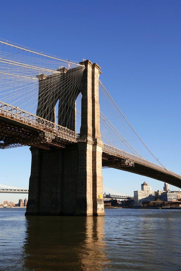 NYC - de brug van Brooklyn stock foto
