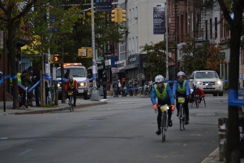 NYC-de Gidsen van de Marathonfiets royalty-vrije stock afbeelding