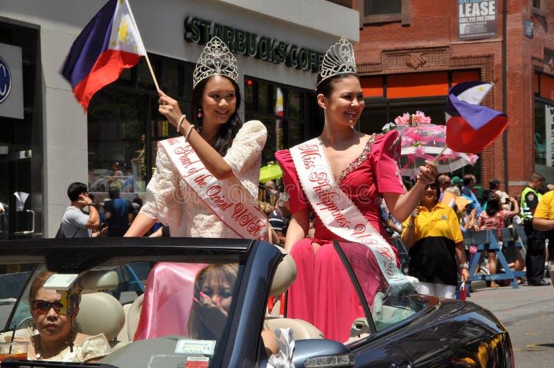 NYC: De Parade van de Dag van de Onafhankelijkheid van Filippijnen stock foto's