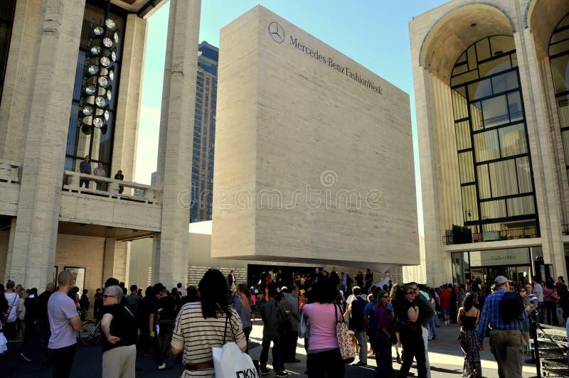 NYC: De Week van de manier op het Centrum van Lincoln royalty-vrije stock foto