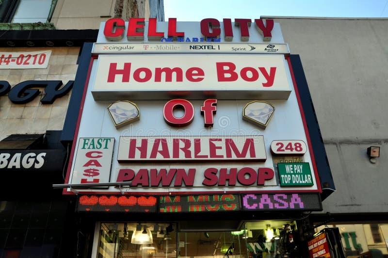 NYC: De Winkel van het Pand van Harlem stock afbeelding