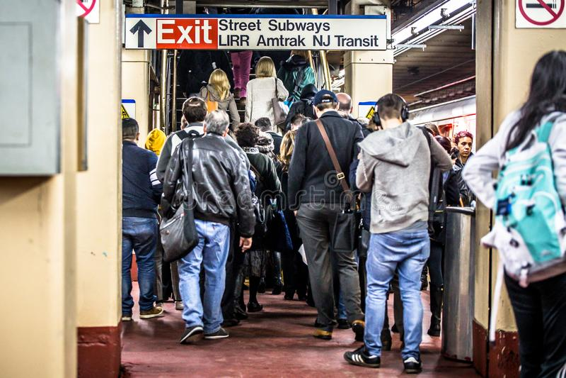 NYC dojeżdżających Penn stacja fotografia stock