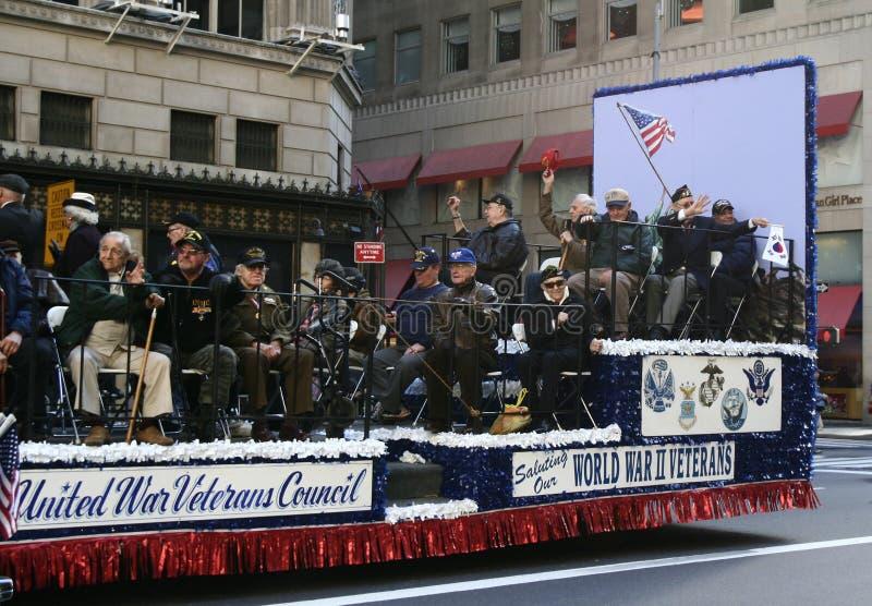 NYC ehrt Veteranen-Tag lizenzfreie stockfotografie
