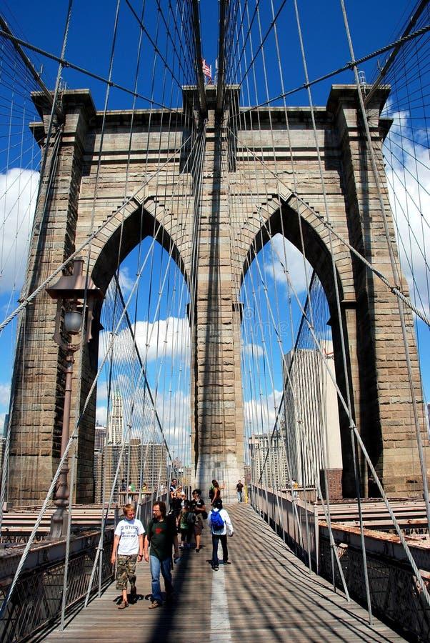 NYC: El puente de Brooklyn imagen de archivo
