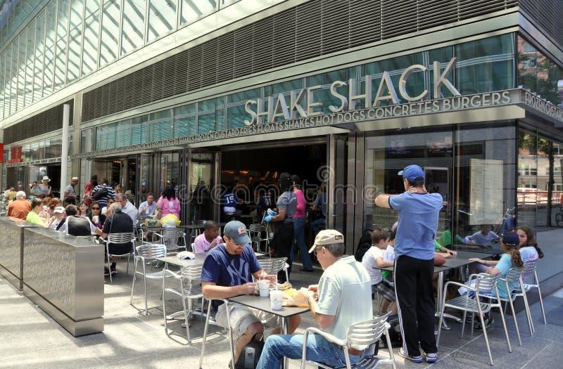 NYC: Erschütterung-Bretterbude-Gaststätte stockfoto