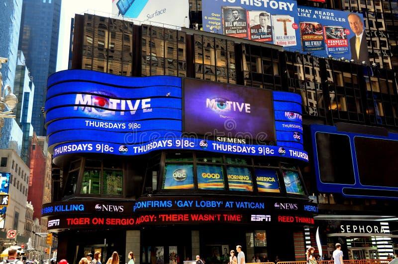 NYC: Estúdio do Times Square da ABC-tevê Good Morning America fotografia de stock royalty free