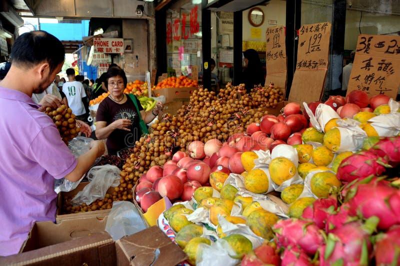 NYC: Exotische Früchte in Chinatown lizenzfreie stockfotos