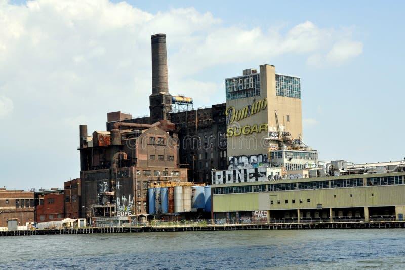 NYC: Fabbrica dello zucchero di domino in regine immagini stock libere da diritti